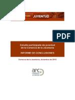 ARC. Estudio Participado de Juventud Comarca Jacetania. Dic2010