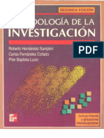 Metodología de la Investigaciin Hernández Sampieri Segunda Edición