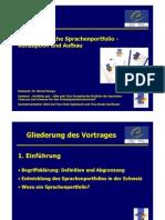 Vortrag Europäisches Sprachenportfolio 2005