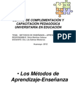 Los Métodos de Aprendizaje-Enseñanza