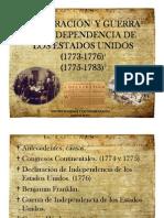 Unidad 3 Declaración y Guerra de Independencia de los EEUU -Melissa González y Catherine Garzón
