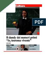 Intervista di Cédric Villani a Repubblica