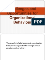Challenges and Opportunities for Organizational Behaviour