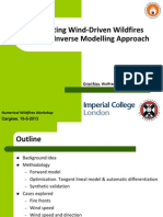 Forecasting Wind-Driven Wildfires Using An Inverse Modelling Approach