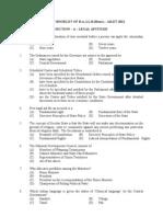 AILET-2012 Question Booklet