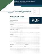 Csl Admission Form 2013