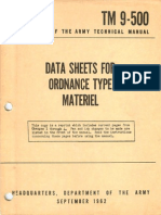 TM 9-500 1962 - Data Sheets for Ordnance Type Materiel