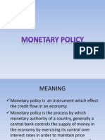 Monetary Nd Fiscal Policy1