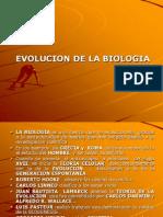 Evolucion de La Biologia