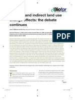 Biofuels and indirect land use change effects