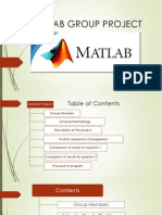 Matlab Group Project Ppt