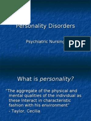Personality Disorders Psychiatric Nursing | Personality