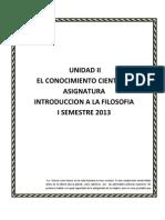 II Unidad Para La Asignatura Introduccion a La Filosofia 20132