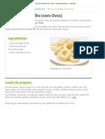 Biscoito de Polvilho (sem Ovos) - Receita de Biscoitos - ClickGrátis