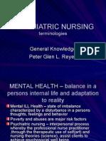 Psychiatric Nursing Terminologies