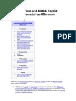 Wikipedia - American and British English Differences