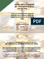 Reflexiones Sobre El Segundo y Tercer to de La Ley de Dios