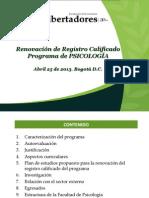 REGISTRO CALIFICADO PSICOLOGÍA PSICOLOGIA LOS LIBERTADORES