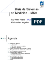 Análisis de Sistemas de Medición (MSA)