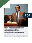 Javier Diez Canseco el más carismático político socialdemócrata peruano