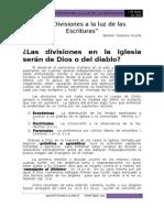 Las Divisiones a La Luz de Las Escrituras