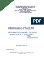 SEMINARIO -TALLER DESCUBRIENDO CONCEPTOS FÍSICOS  INTRODUCCION (Vf)