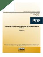 Proceso de Transformacion Espacial de Barranquilla en El Siglo Xx