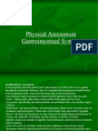 Physical Assessment and Physical Exam of GI Tract