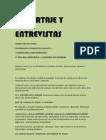 Reportaje y Entrevistas Genaro Coellar Lituma