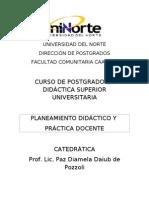 Plan de Clases Postgrado 2013