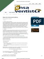 Bases de la Hermenéutica Bíblica _ Defensa Adventista