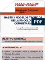 Bases y Modelos Teoricos de La Psicologia Comunitaria