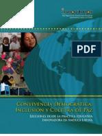 Convivencia Democrática Inclusión y Cultura de Paz