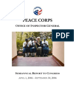 Peace Corps OIG April 1, 2006 - September 30, 2006 (PDF  SARC_200609