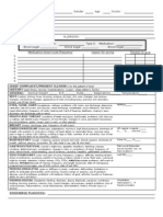 Student Clinical Report Sheet
