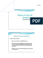 Risque Et Taux de Rendement (Support de Cours)very good to do some financial analyse  in french language it's fun and helpful try it 