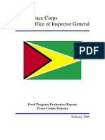 Peace Corps Guyana Final Program Evaluation Report IG0905E