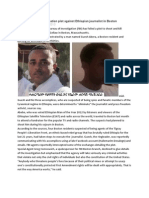 FBI Foils TPLF Assassination Plot Against Ethiopian Journalist in Boston