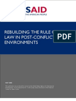 Consolidated Rebuilding the Rule of Law in Post Conflict Environments 2005 Publication