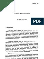 Négation tamazight