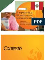 El Impacto de La Educacion en El Crecimiento Del Peru