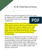U.S. Constitution Article VI