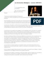 La entrevista una invencion dialógica - Leonor ARFUCH.doc