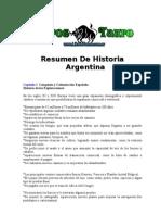 - Resumen de Historia Argentina