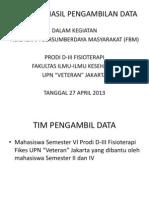 Laporan Hasil Pengambilan Data