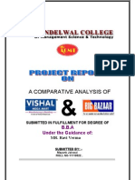 Project Report on Vishal and Bigbazar