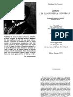 Ferdinand de Saussure Corso Di Linguistica Generale