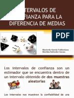 EXPOSICION TERMINADA de Intervalos de Confianza Para La Diferencia de Medias