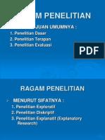 04. RAGAM PENELITIAN
