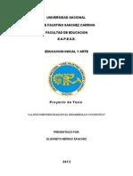 Proyecto de Investigacion PSICOMOTRICIDAD Y Desarrollo Cognitivo1